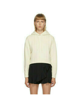 Valentino Off-White Cropped Hoodie