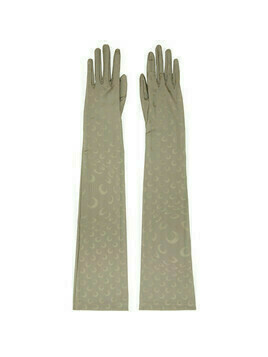 Marine Serre Taupe Reflective Moon Long Gloves