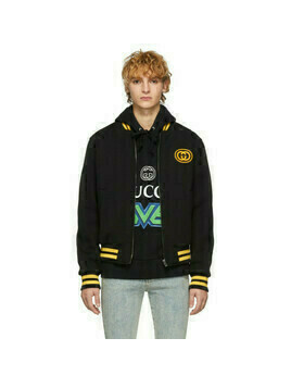 Gucci Black Wool Bomber Jacket