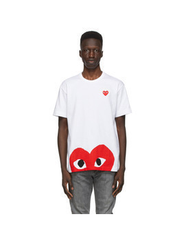 Comme des Garcons Play White Half Heart T-Shirt