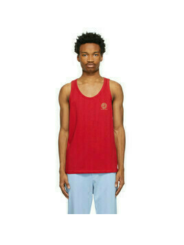 Versace Underwear Red Medusa Logo Tank Top