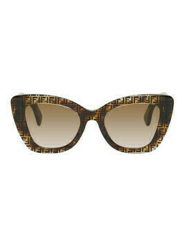 Fendi Tortoiseshell F Is Fendi Cat-Eye Sunglasses