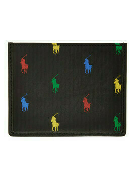 Polo Ralph Lauren Black Allover Pony Card Holder