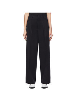 AMI Alexandre Mattiussi Black Wool Oversized Trousers