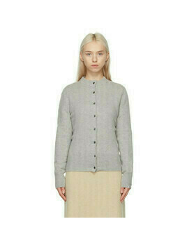 extreme cashmere Grey N°99 Little Cardigan