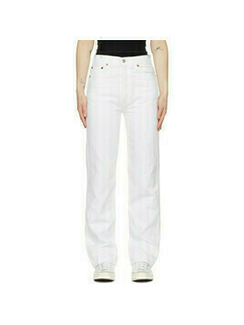 Re/Done White 90s High-Rise Loose Jeans