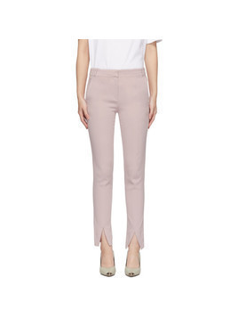 Tibi Pink Beatle Menswear Trousers