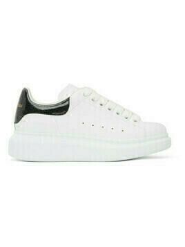 Alexander McQueen SSENSE Exclusive White Holographic Tab Oversized Sneakers