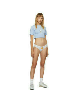 Im Sorry by Petra Collins SSENSE Exclusive Blue and White Socks T-Shirt and Briefs Set