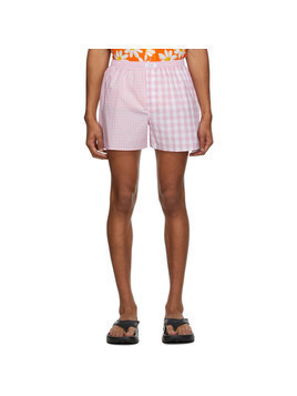 ERL Pink Check Boxer Shorts