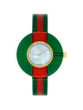 Gucci Red and Green Vintage Web Watch