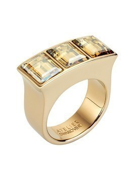 Fluid Ring, Brown, Gold plating