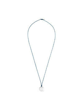 Waterschool Collection Necklace, Large, Dark Blue, Rhodium plating