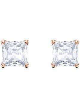 Swarovski Attract Stud Pierced Earrings, White, Rose gold plating White Rose gold-plated