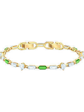 Oz Bracelet, White, Gold plating
