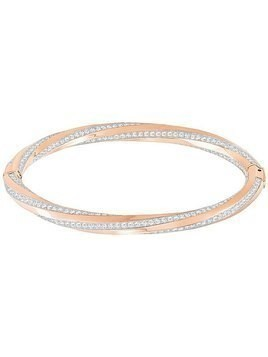 Hilt Bangle, White, Rose gold plating