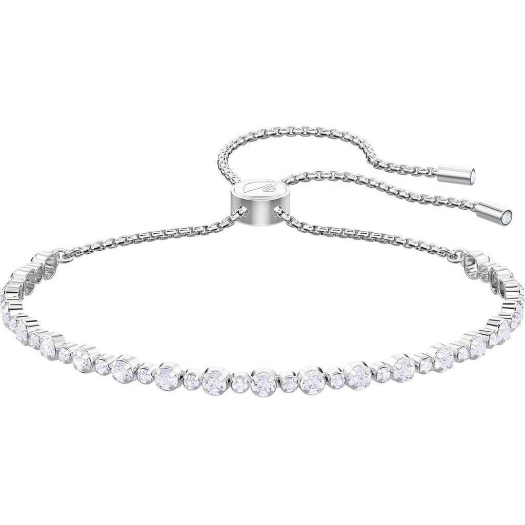 Subtle Bracelet, White, Rhodium plating