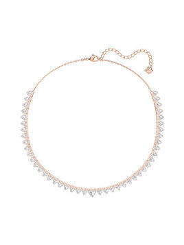 Swarovski Lima Necklace, White, Rose gold plating White Rose gold-plated
