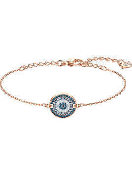 Luckily Bracelet, Multi-colored, Rose gold plating