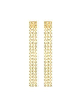 Fit Long Pierced Earrings, Golden, Gold Plating