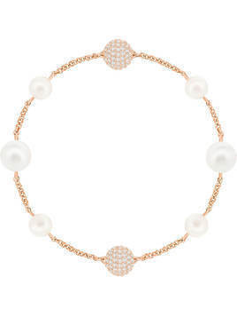 Swarovski Remix Collection Mixed Crystal Pearl Strand, White, Rose gold plating
