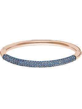 Stone Bangle, Blue, Rose gold plating
