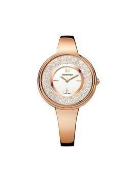 Crystalline Pure Watch, Metal bracelet, White, Rose gold tone