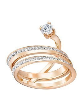 Fresh Ring, Medium, White, Rose Gold Plating