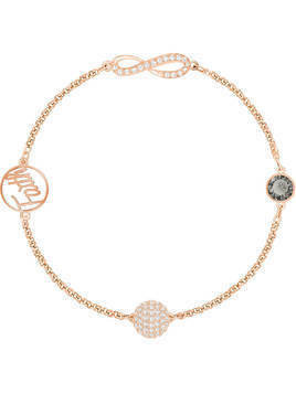 Swarovski Remix Collection Infinity Symbol Strand, Black, Rose gold plating