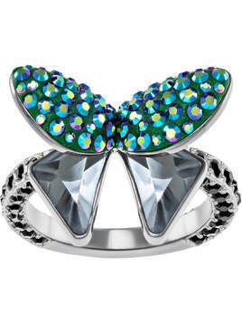 Magnetized Motif Ring, Multi-colored, Black ruthenium plating