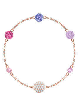 Swarovski Remix Collection Pop Strand, Purple, Rose gold plating