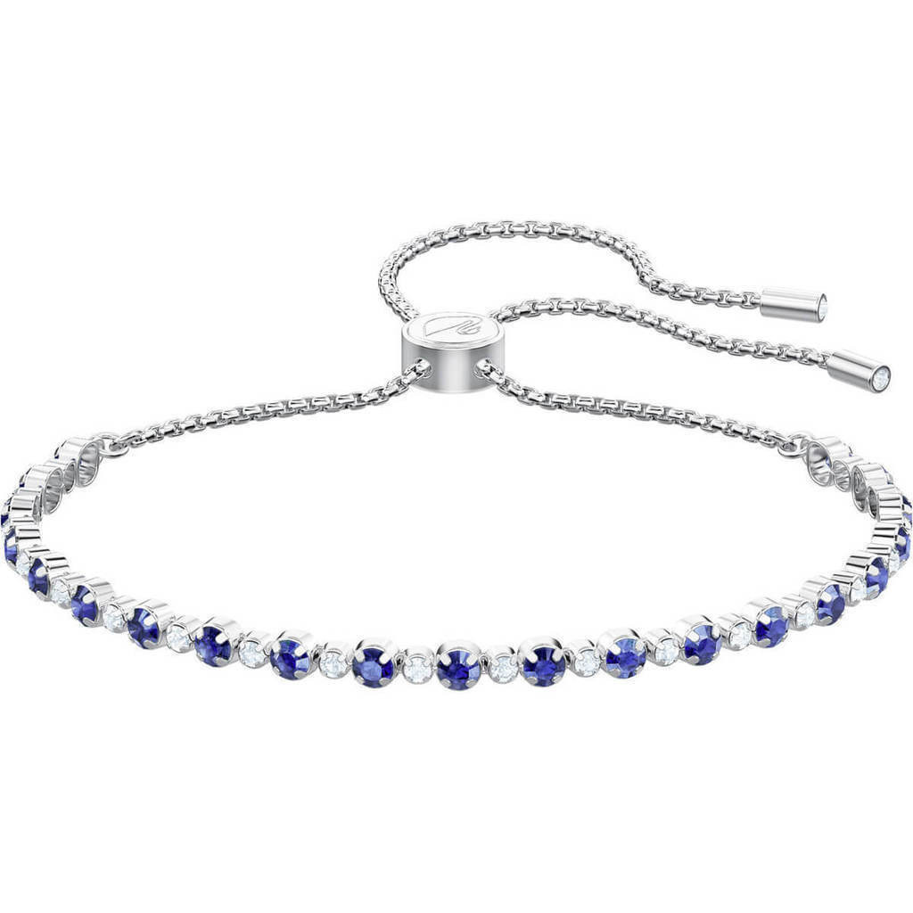 Subtle Bracelet, Blue, Rhodium plating