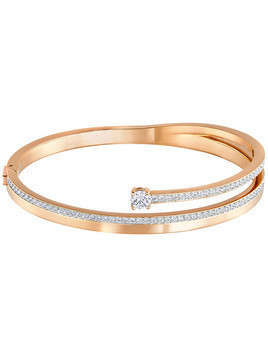 Fresh Bangle, White, Rose Gold Plating