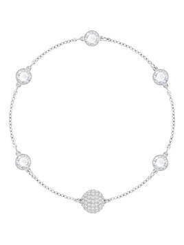 Swarovski Remix Collection Timeless Strand, White, Rhodium plating