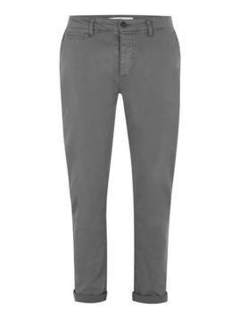 Charcoal Stretch Slim Chinos