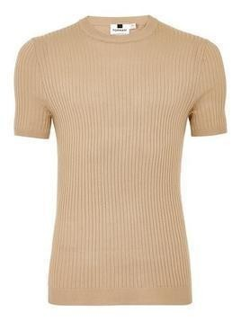 Stone Muscle Ribbed Jumper