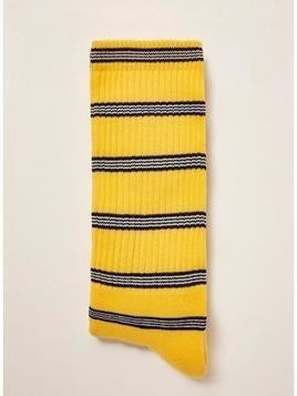 Yellow Striped Tube Socks