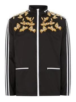 Black Embroidered Track Jacket