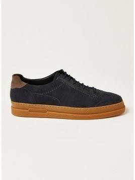 HUDSON Navy Suede 'Arbroath' Retro Trainers