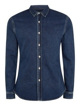 Indigo Stretch Stretch Skinny Denim Shirt