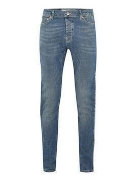 Light Wash Side Taping Stretch Skinny Jeans