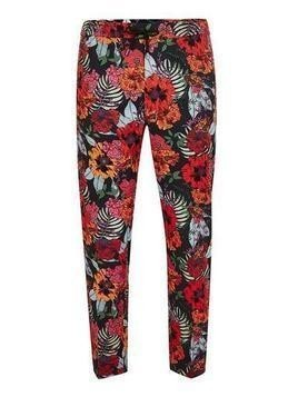 Floral Printed Joggers With Side Taping