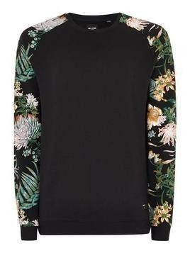 ONLY & SONS Black Floral Sweatshirt
