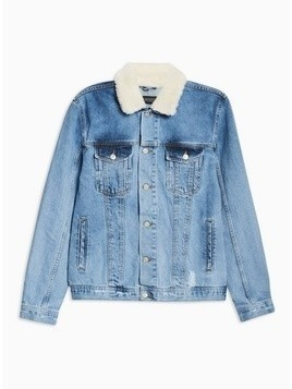 ANTIOCH Indigo Borg Denim Jacket*