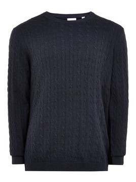 ONLY & SONS Navy 'Alex' Cable Jumper