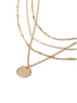 Gold Multirow Necklace*