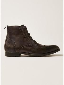 Black Leather Moriarty Lace Boots