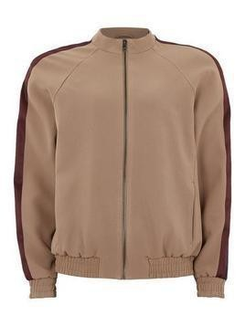 Stone Smart Track Top With Satin Side Stripe