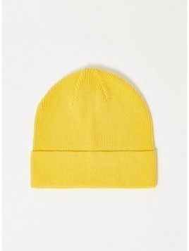 Yellow Cotton Mix Skater Beanie