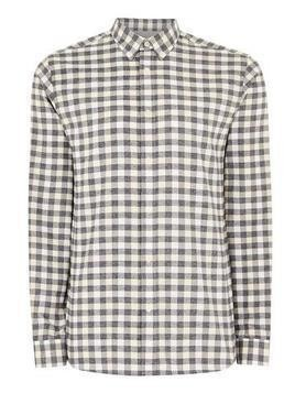 SELECTED HOMME Grey Slim Check Shirt
